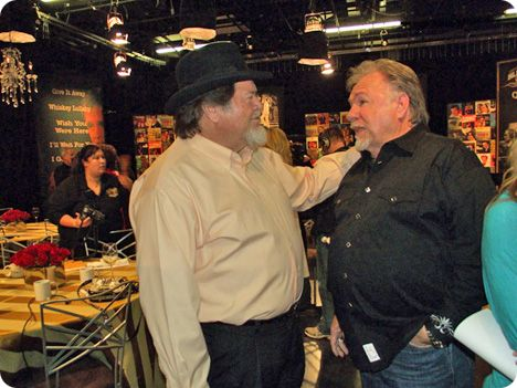 Dallas Frazier and Gene Watson at a 'Country's Family Reunion' recording in Nashville on Wednesday 6 October 2010
