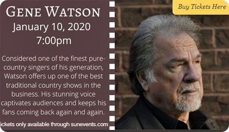 Gene Watson at Genesis Center, 218 East Belleview Street, Lake Placid, FL 33852 on Friday 10 January 2020