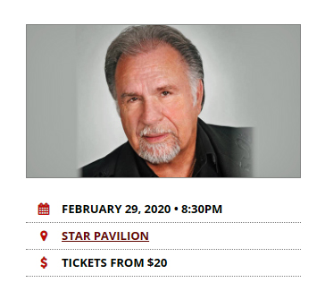 Gene Watson at Ameristar Casino Star Pavilion, 3200 North Ameristar Drive, Kansas City, MO 64161 on Saturday 29 February 2020
