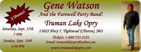 Truman Lake Opry, 11022 Hwy 7, Tightwad, Clinton, MO 64735
