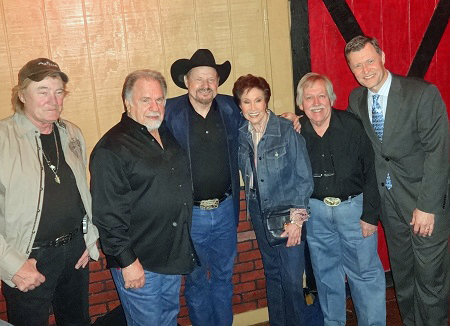 Eddy Raven, Gene Watson, Moe Bandy, Jan Howard, John Conlee & Bill Cody (Wednesday 18 March 2015)