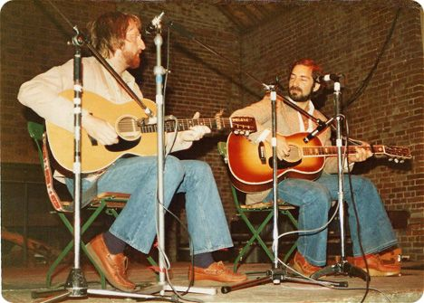 Pat Alger and Arthur Roy 'Artie' Traum (Saturday 3 April 1943 - Sunday 20 July 2008) at Norwich Fol Festival in Norwich, Norfolk, England, in 1978 (photo courtesy of Tony Rees)