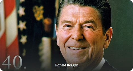 Ronald Reagan (Monday 6 February 1911 - Saturday 5 June 2004)