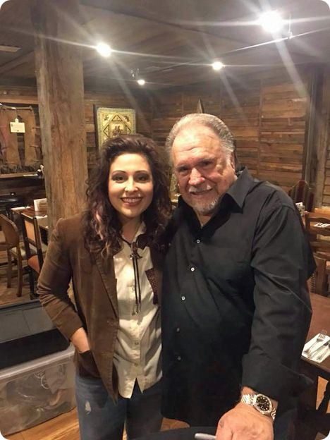 Sarah Peacock and Gene Watson at Dosey Doe, 'The Big Barn', 25911 I-45 North, The Woodlands, Texas 77380 on Saturday 4 November 2017